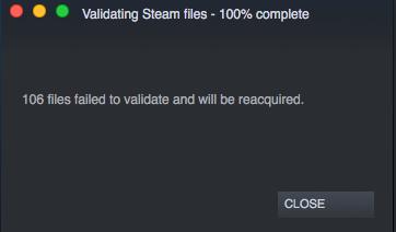 Steam versucht, alle Dateien in Ihrem lokalen Cache zu validieren und lädt alle fehlenden oder beschädigten Dateien erneut herunter.