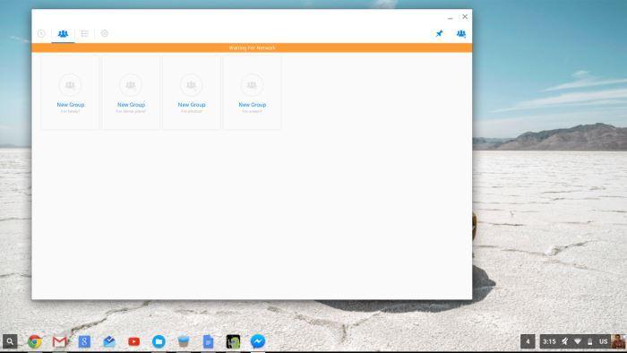 Konfigurieren Sie die Android Messenger-App auf dem Chromebook.