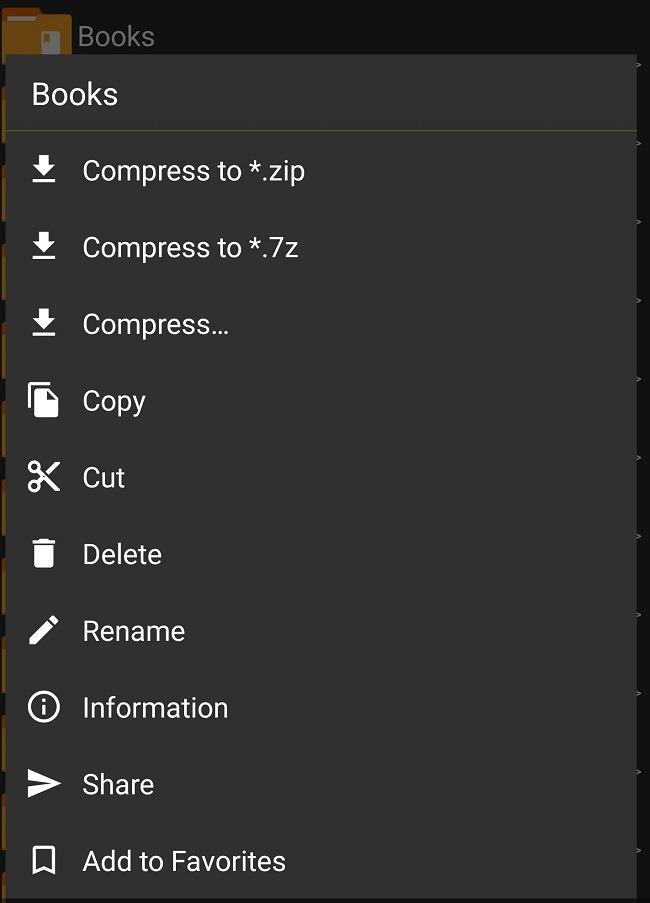 Komprimieren und extrahieren Sie Dateien auf Android mit dem Zarchiver-Ordner