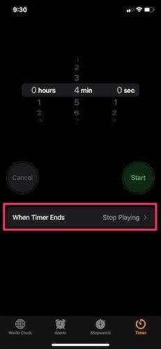 Musik-Iphone-Timer ausschalten