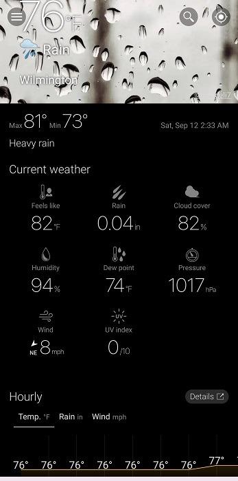 Top Dark Sky-Alternativen für Android Weawow