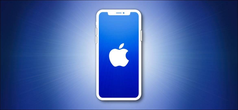 Apple iPhone Umriss auf Blau
