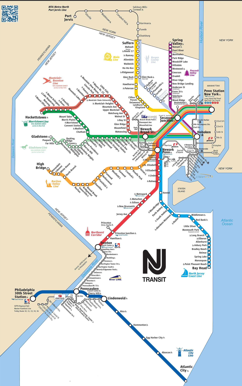 Bergen Hudson Map Trans