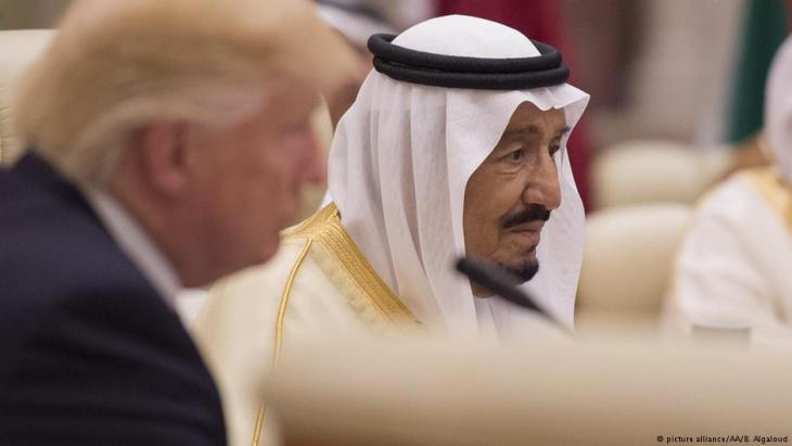 US-Präsident Donald Trump zu Besuch beim saudischen König Salman bin Abdulaziz Al Saud Ende Mai in Saudi-Arabien; Foto: picture-alliance