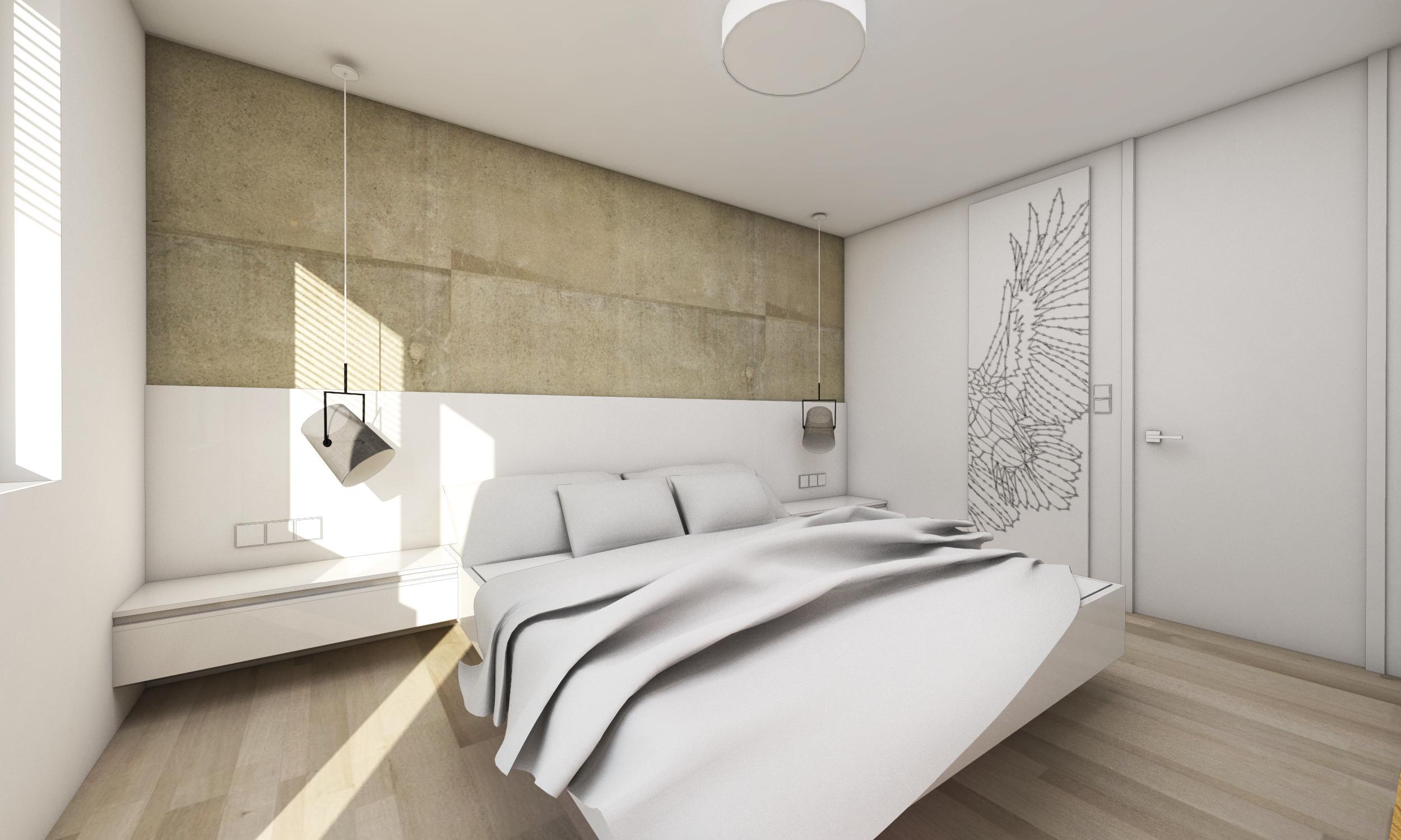 Drei Zimmer Wohnung Mit Einer Betonwand Bratislava