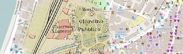 mappa di Trento 1915 - da un libro di Cesare Battisti