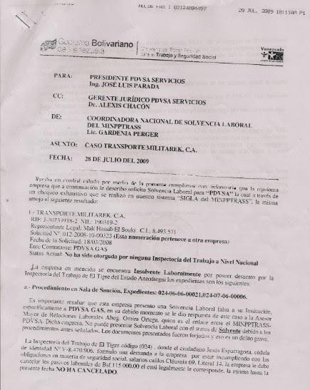 Insolvencia de Militarek / Numeración pertenece a otra empresa.