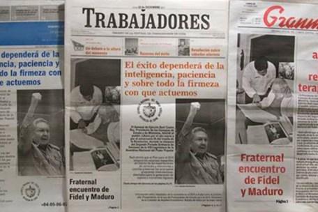 Existen sólo 3 periódicos en Cuba, los 3 se imprimen en el mismo lugar. Créditos: Yusnaby.com