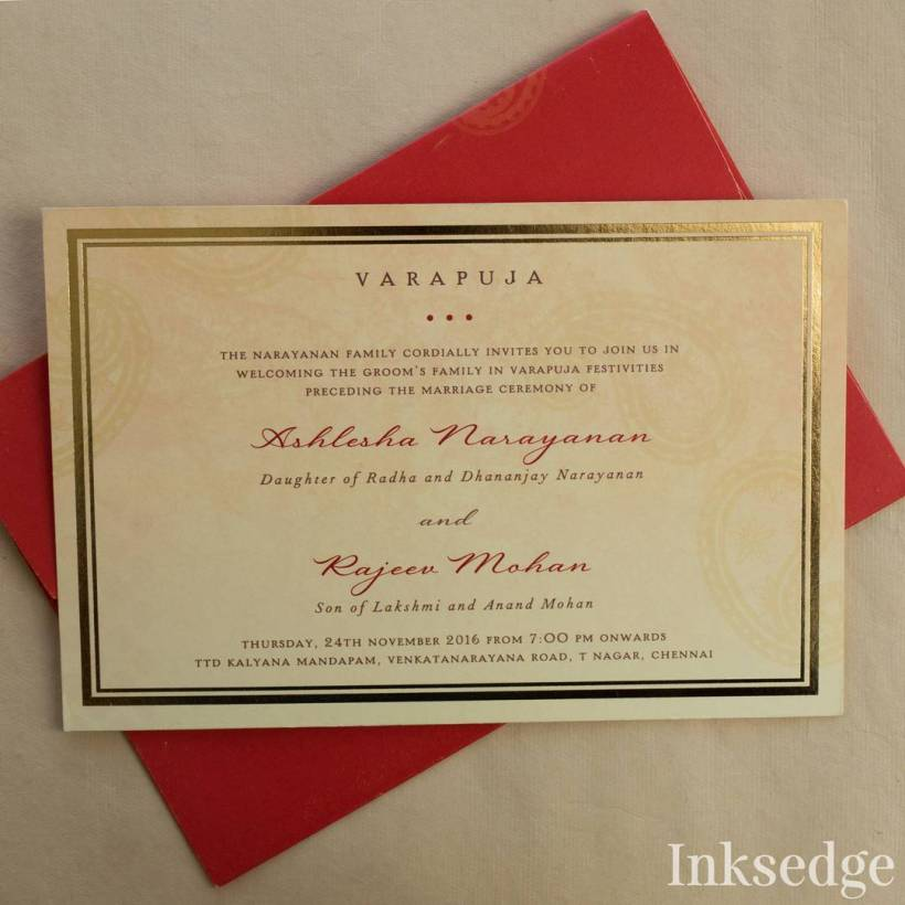 Varapuja Invitation Wording For Indian Wedding