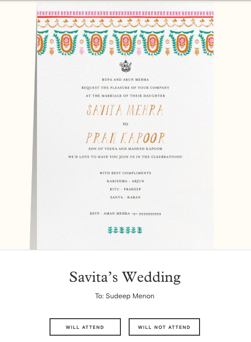 Paperless Post A Website Where You Can Create Free Online Wedding Invitations