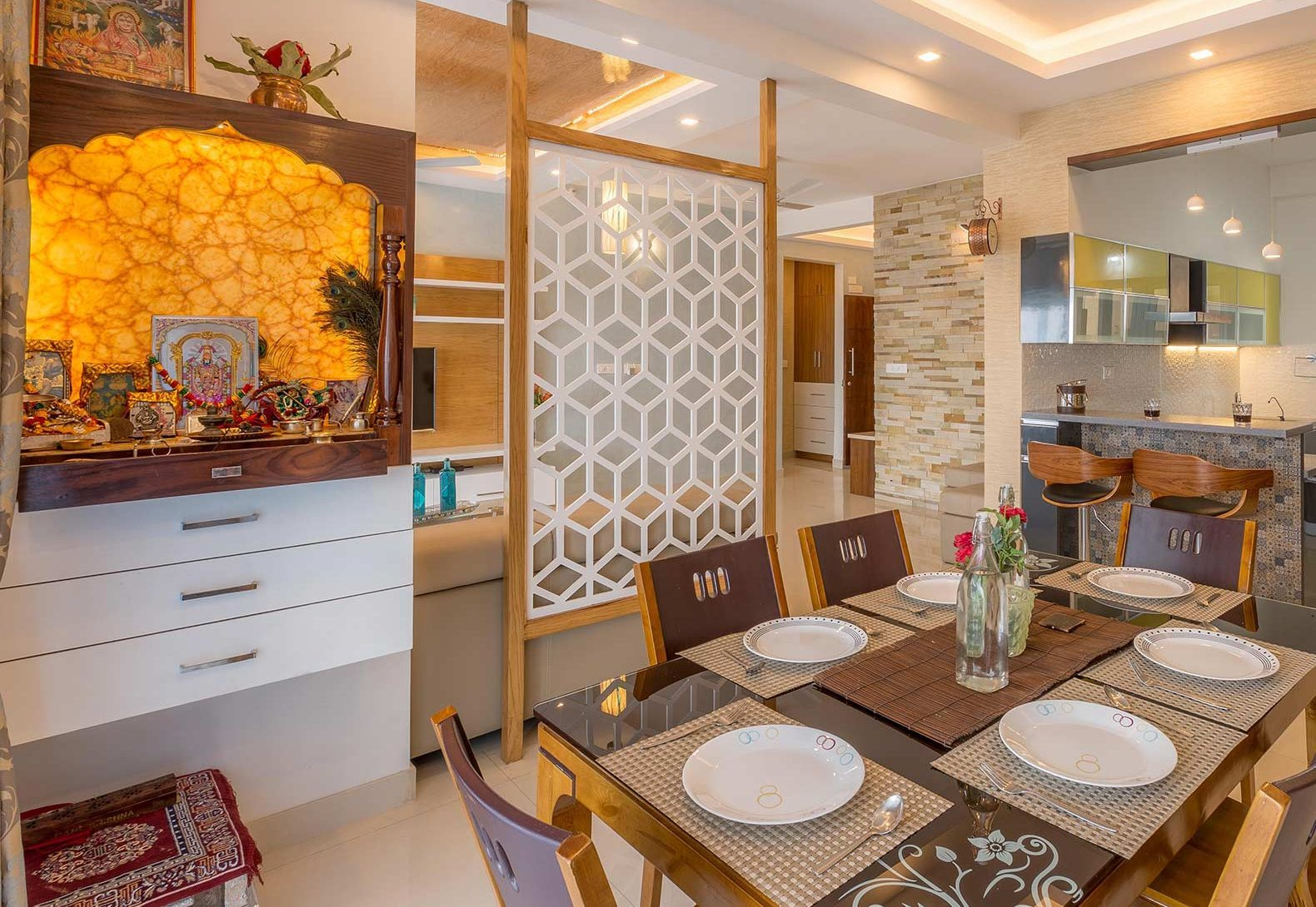 9 Small Mandir Design Ideas For Indian Homes Wall