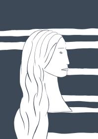 Woman as Vector Indigo