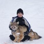Josh and a big dog