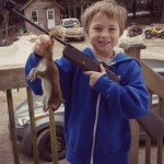 Ty's first squirrel with his pellet gun