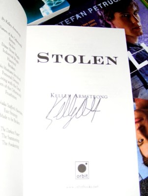 stolen kelley armstrong signed
