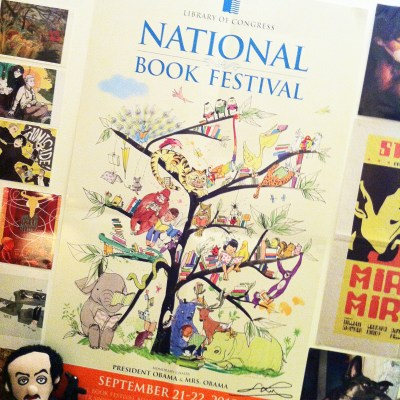 My National Book Festival poster: you know you want one.