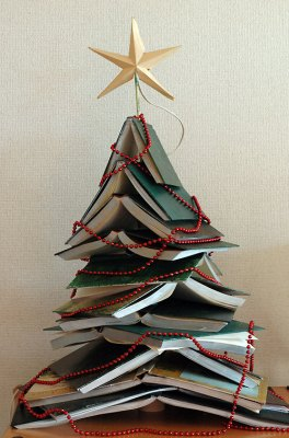 A Christmas Tree of Books