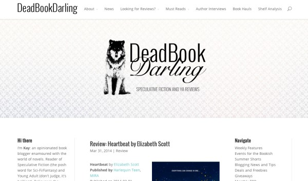 New Layout- Dead Book Darling