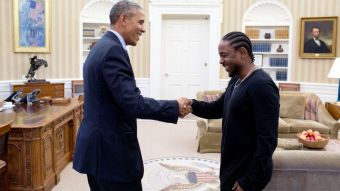 Kendrick Lamar meets Barack Obama, who's favourite song of last year was Kendrick's 'How Much A Dollar Cost'