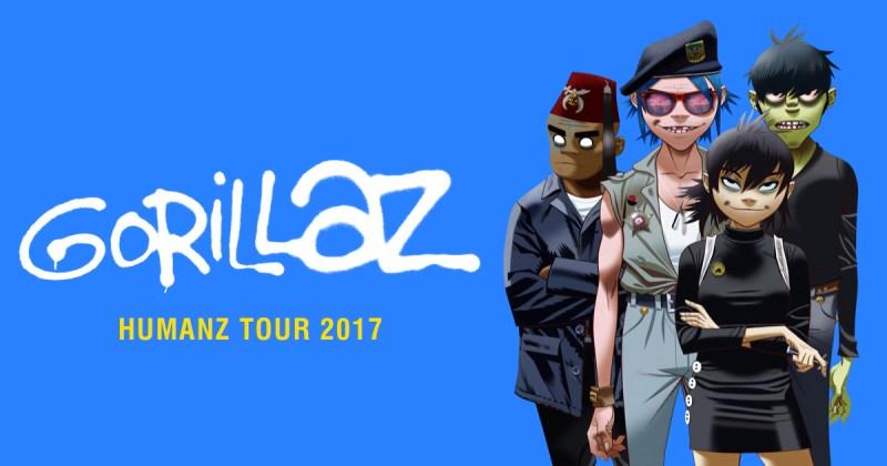 gorillaz tour
