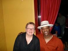 With Eric Bibb at the Hepburn Palais