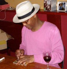 Eric Bibb signing autographs at the Hepburn Palais