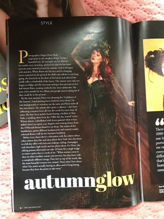 "Me as ""Mother Nature"" alongside the fabulous article about Megan of Studio Fascino."