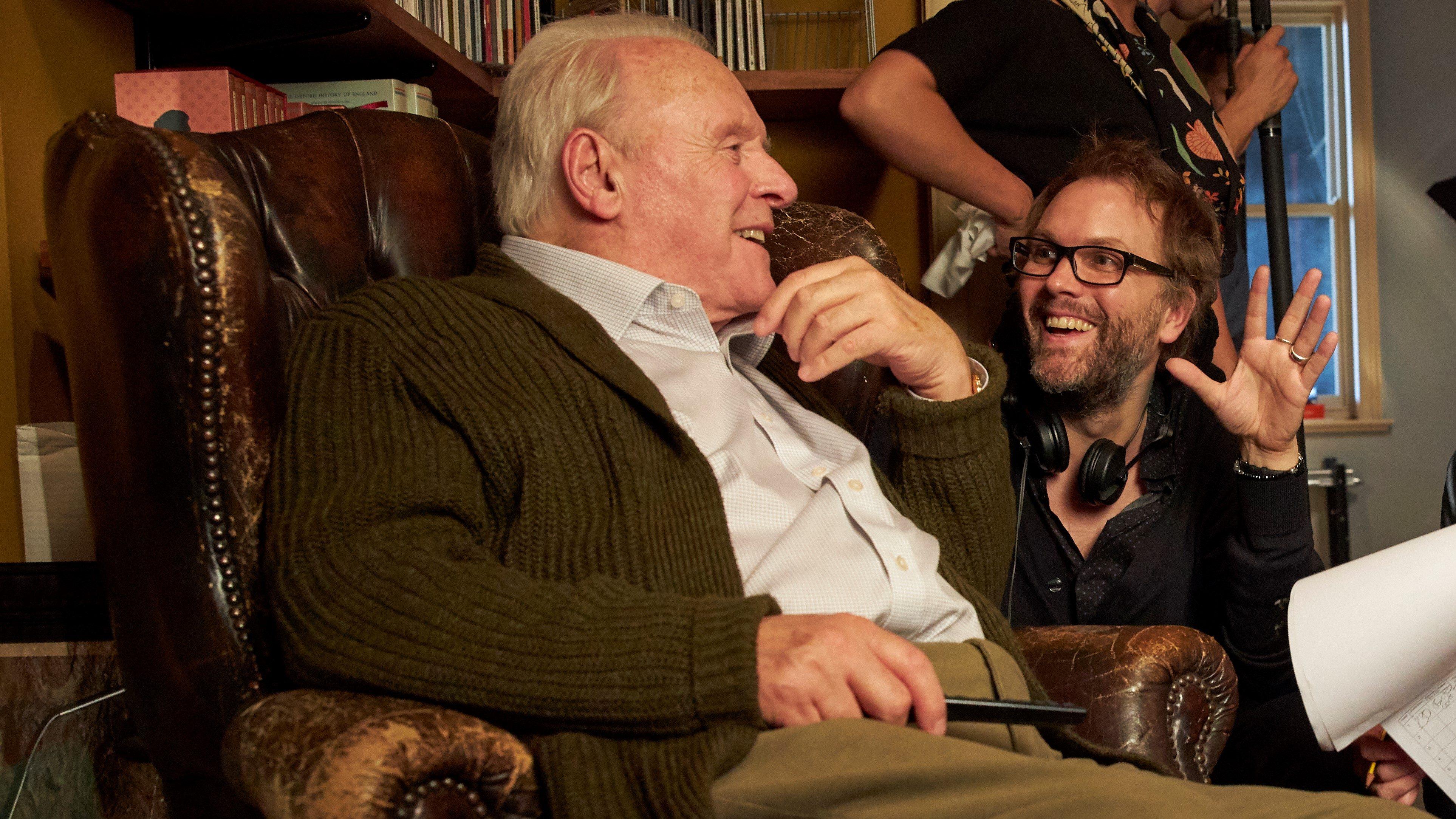 Anthony Hopkins (L) with Florian Zeller (R)