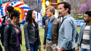 Tristin Mays, Levy Tran, Lucas Till, Henry Ian Cusick and Justin Hires in 'MacGyver'