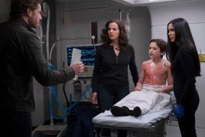 Josh Dallas, Athena Karkanis, Jack Messina and Parveen Kaur in 'Manifest'