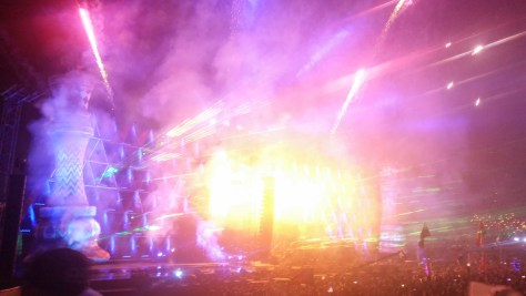 Nocturnal Wonderland 20 Year Anniversary Labyrinth Stage, Blasting Visuals