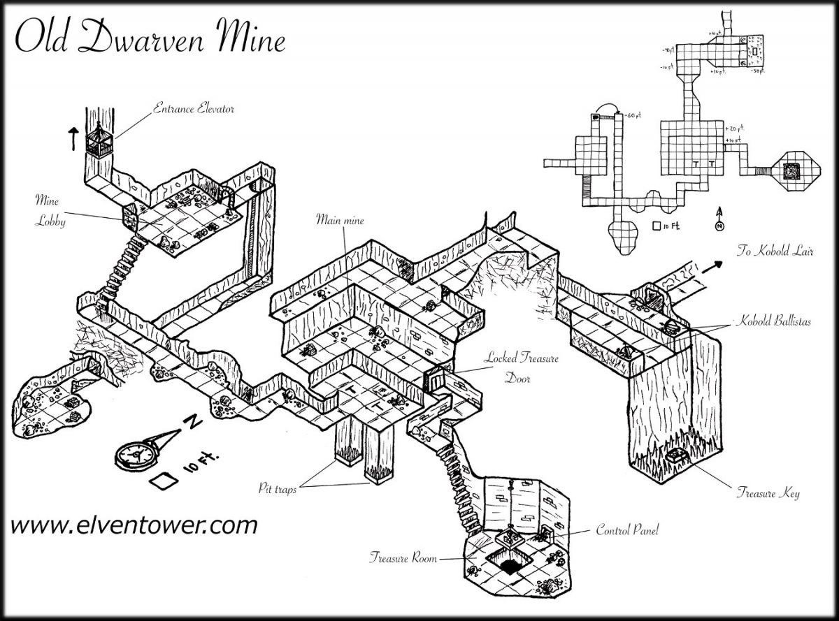 Map Monday Old Dwarven Mine Keep Rollin Sixes