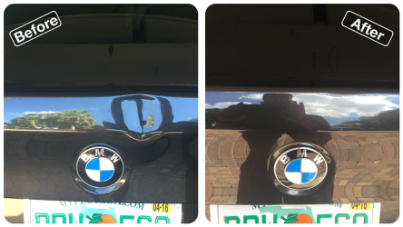 trunk dent repaired