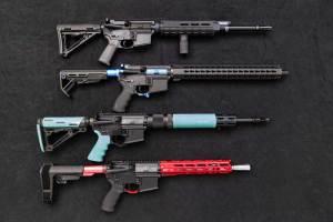 A selection of DOA custom AR-10 rifles.