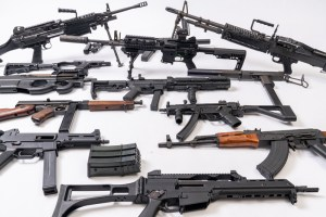 Machine guns for rent at Dead On Arms