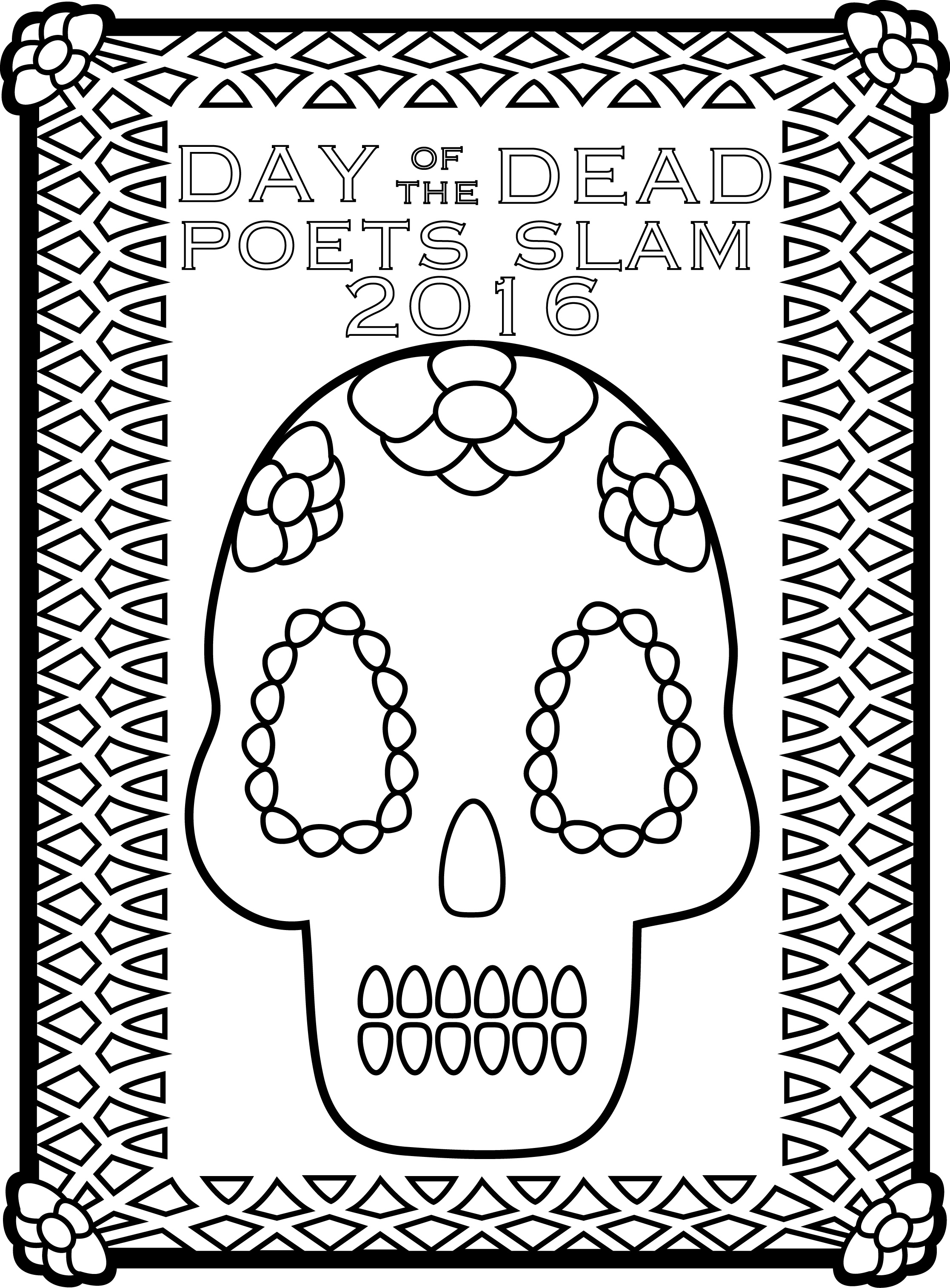 Coloring Book, Art by Local Artists – Day of the Dead Poets Slam