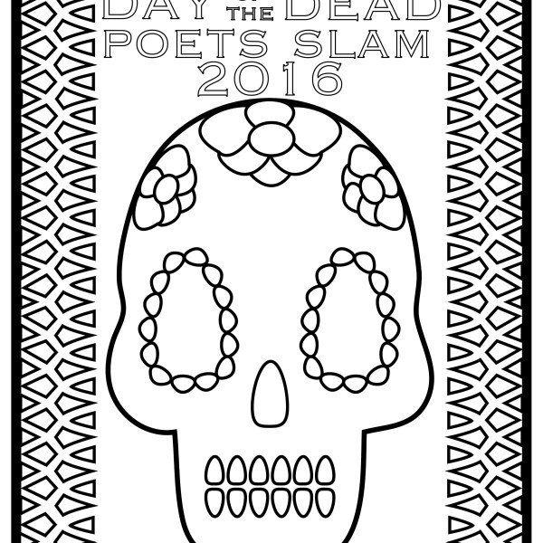 Coloring Book Cover Day of the Dead Poets Slam