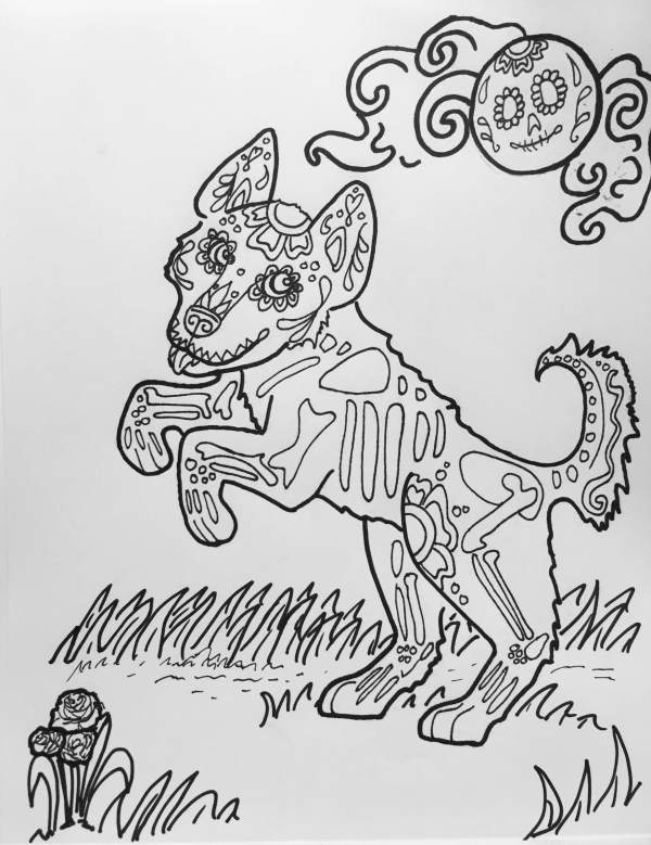 Coloring Book Art Dog