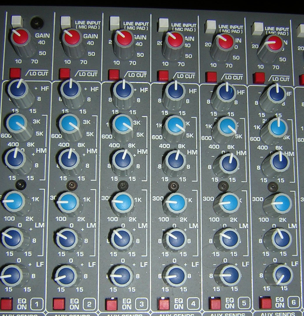 Mixing Board for 8-27-2008 (Piano is Channel 6)