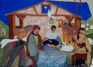 "Scene from ""The Story of Jesus's Birth."" Photograph taken by Lynn Rife. 16 Dec. 2012"