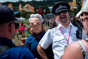 Crimplene Crusaders_Vamos-Mask-Theatre-Laughing-policeman-credit_Graeme-Braidwood