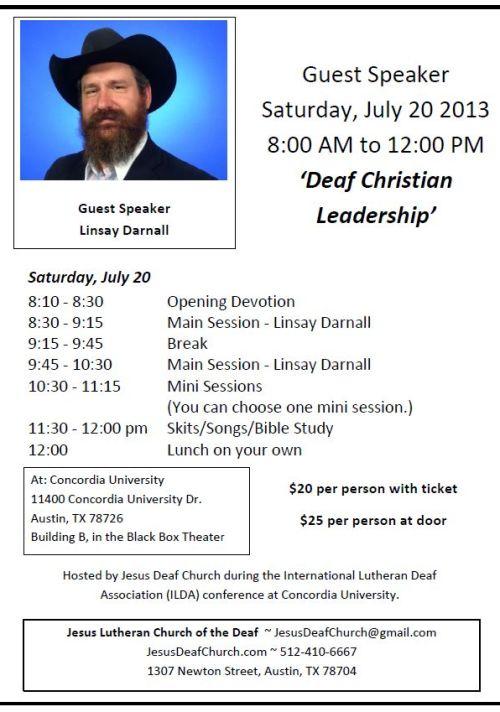 Linsay Darnall Workshop flyer