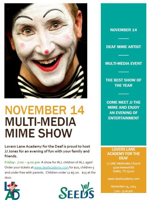 Nov 14 2014 Flyer for evening
