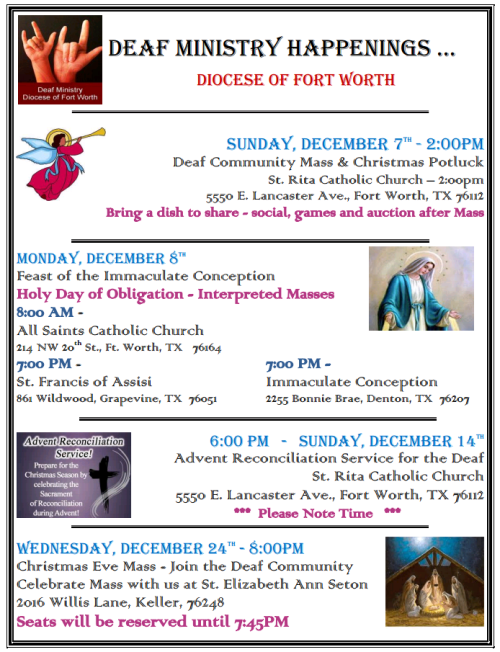 deaf minstry catholic December 2014