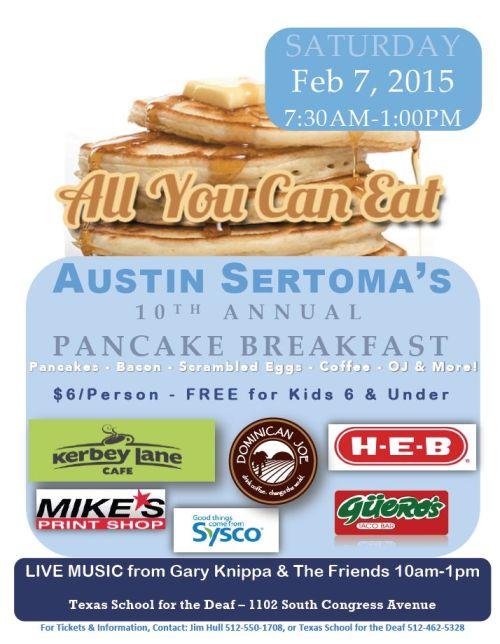 Austin Sertoma's Annual Pancake Breakfast Fundraiser 2015