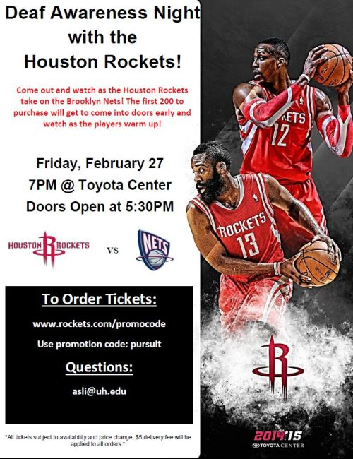 Deaf Awareness Night with the Houston Rockets