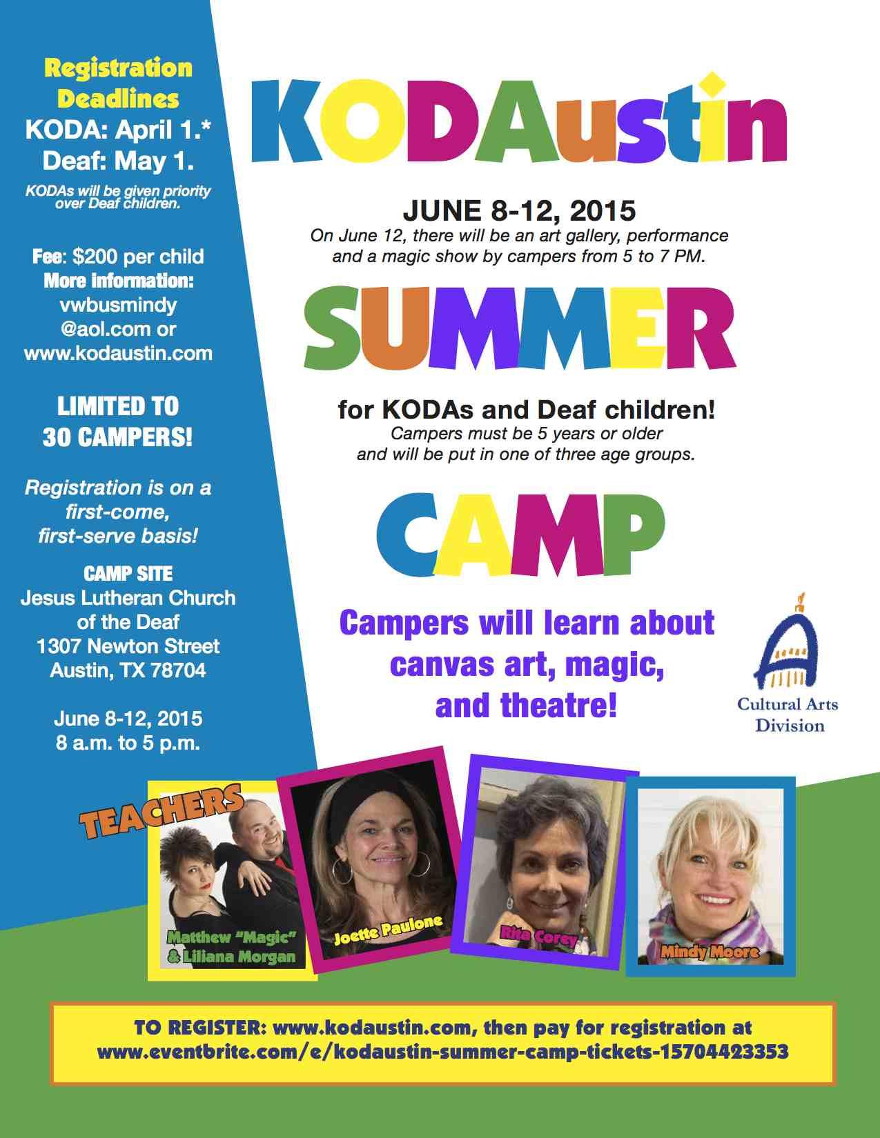 KODA Summer Camp 2015 – Austin – Deaf Network of Texas