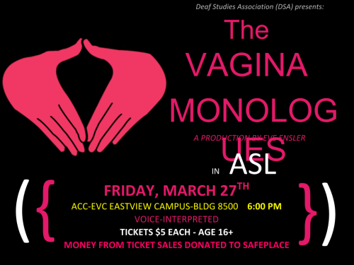 V-DAY monologues FLYER