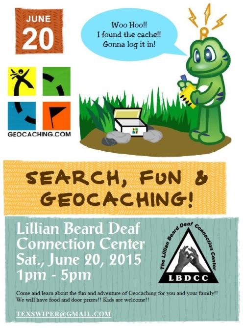Geocaching for Deaf 2015 UPDATED