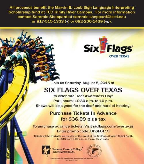 Deaf Day Six Flags 2015